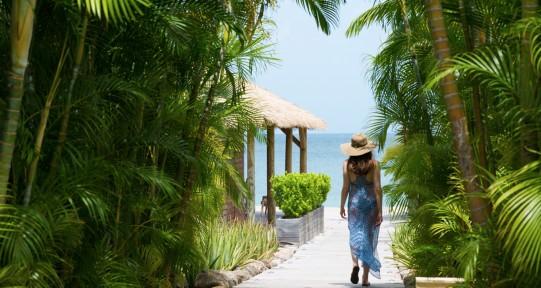 Caribbean villas gardens, Nevis