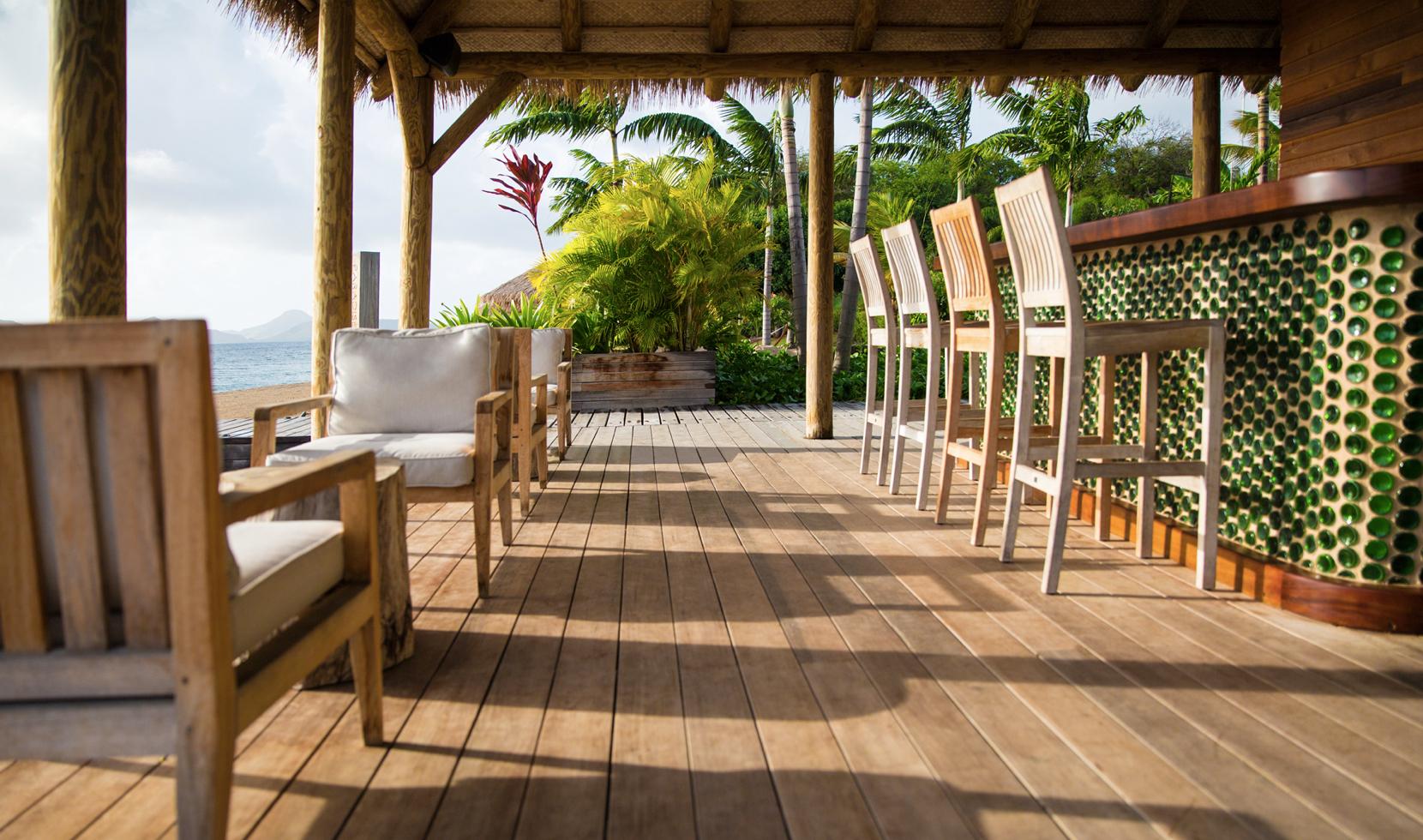 Beach bar, Nevis