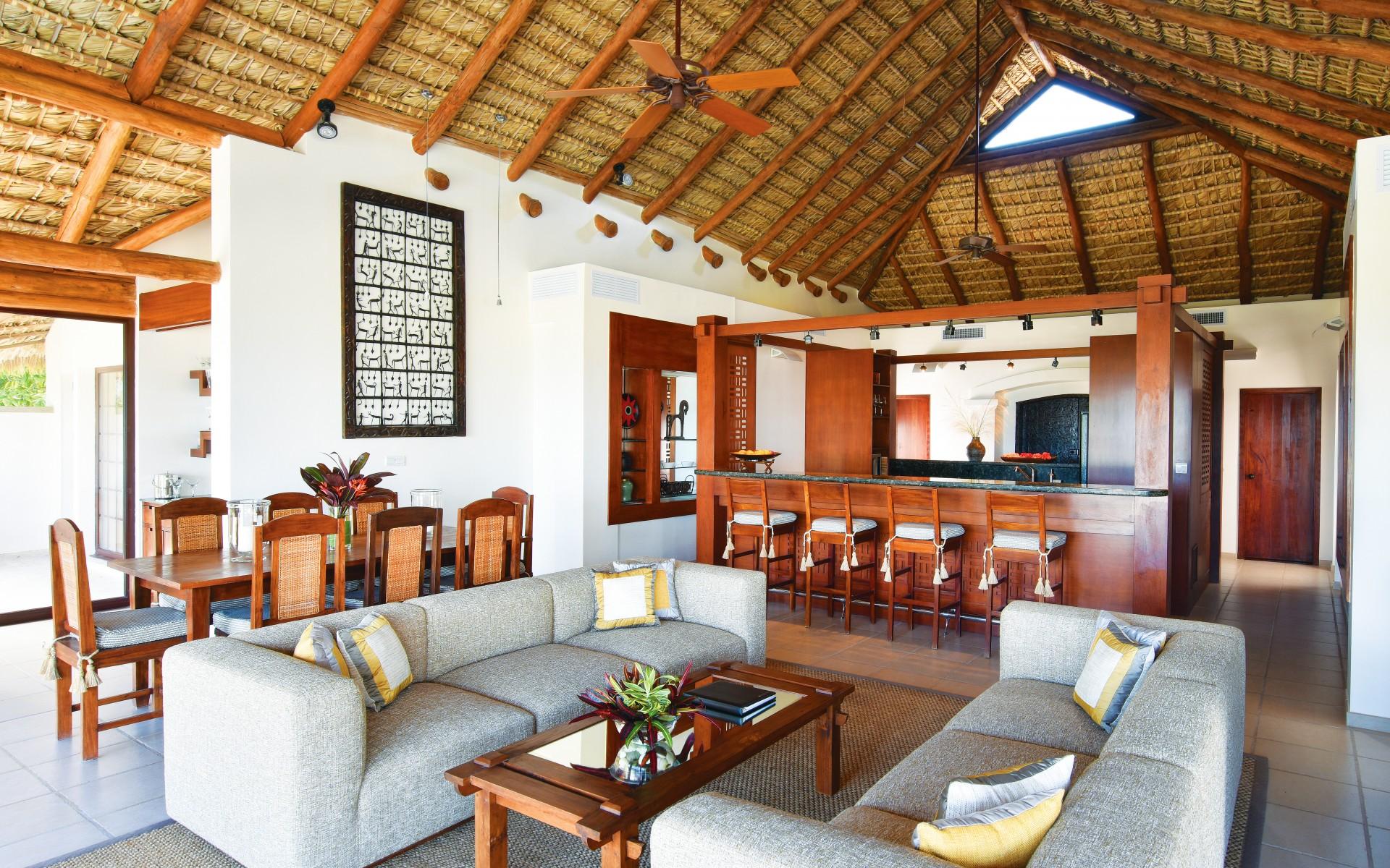 Caribbean villa sitting room