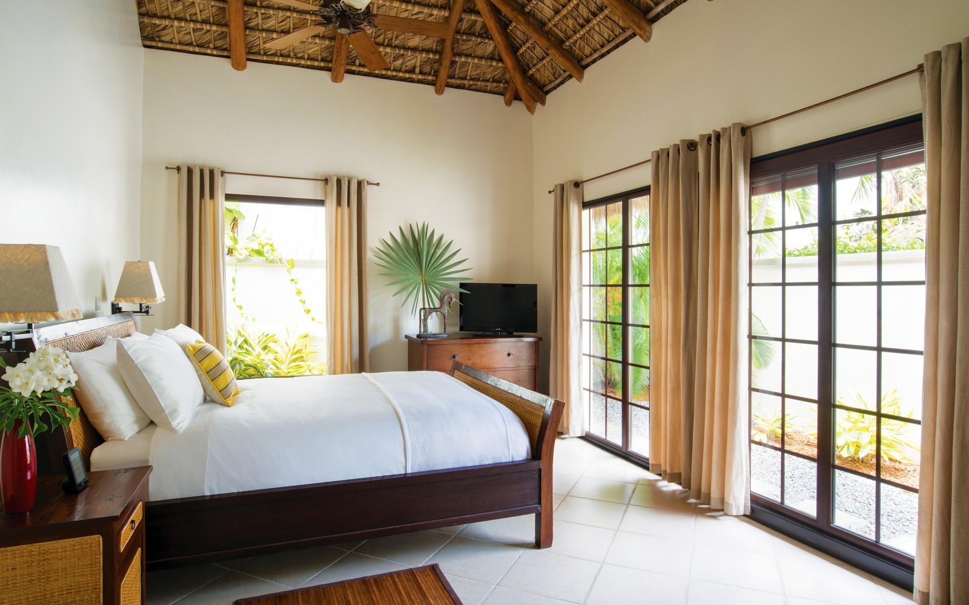 Caribbean villa bedroom